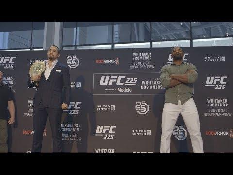 """Intensywne spotkania twarzą w twarz przed UFC 225: """"Whittaker vs Romero 2"""""""