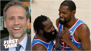 Max Kellerman laughs off the idea of the Knicks threatening the Nets' Big 3 | First Take