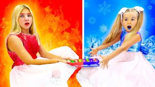 Maggie and Diana kids show COLD VS HOT new kids videos!!