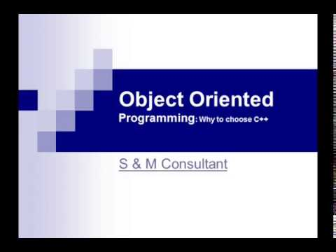 Object Oriented Programmingc++