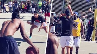 When Steph Curry went at it with a random guy in a pickup 🔥 | House Of Bounce