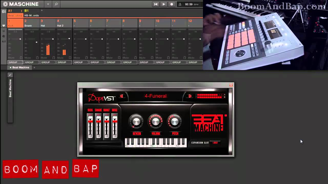 boom and bap dope vst beat machine drum plugin review youtube. Black Bedroom Furniture Sets. Home Design Ideas