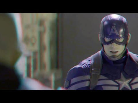 Captain America The Winter Soldier - Clip (2014)(3D)(Side By Side) Fighting
