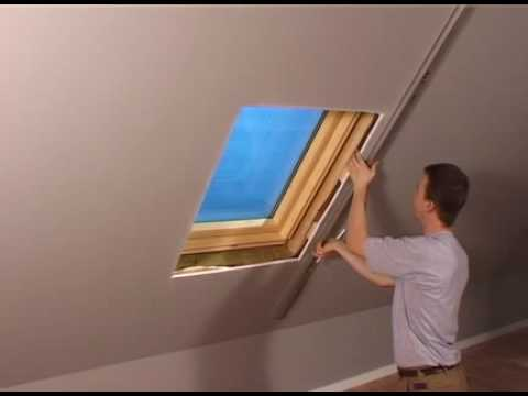 einbau innenfutter velux youtube. Black Bedroom Furniture Sets. Home Design Ideas