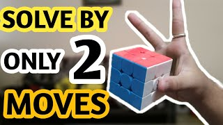 How to 3*3 rubiks cube by two moves|How to solve 3*3 rubiks cube in less than 5 seconds