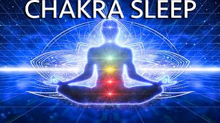 Guided meditation deep sleep, chakra healing and grounding for relaxation and releasing negative ene