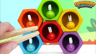 Learn Colors and Counting for Toddlers with Colorful Toy Bees! - YouTube
