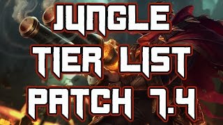 Jungle Tier List Patch 7.4   Best Junglers For Solo Queue Patch 7.4