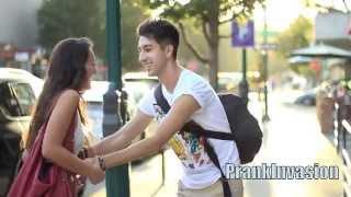 MAKING GIRLS LAUGH FOR KISSES (PUBLIC KISSING PRANK) (UNCUT)