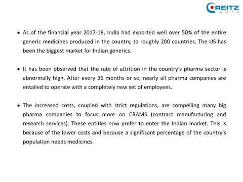 Pharmaceutical Industry In India - Trends And Opportunities - Video By Neel Rao