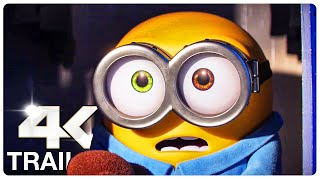 MINIONS 2 THE RISE OF GRU : 4 Minute Trailers (4K ULTRA HD) NEW 2022