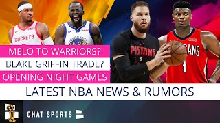 Carmelo Anthony Return To NBA? Blake Griffin Trade Rumors, NBA Schedule & Draymond Green Contract