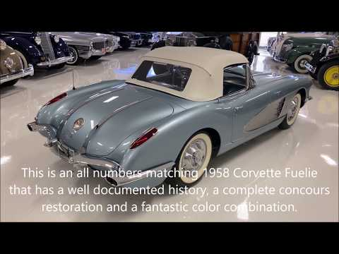 video 1958 Corvette, Fuel Injection, 4-Speed