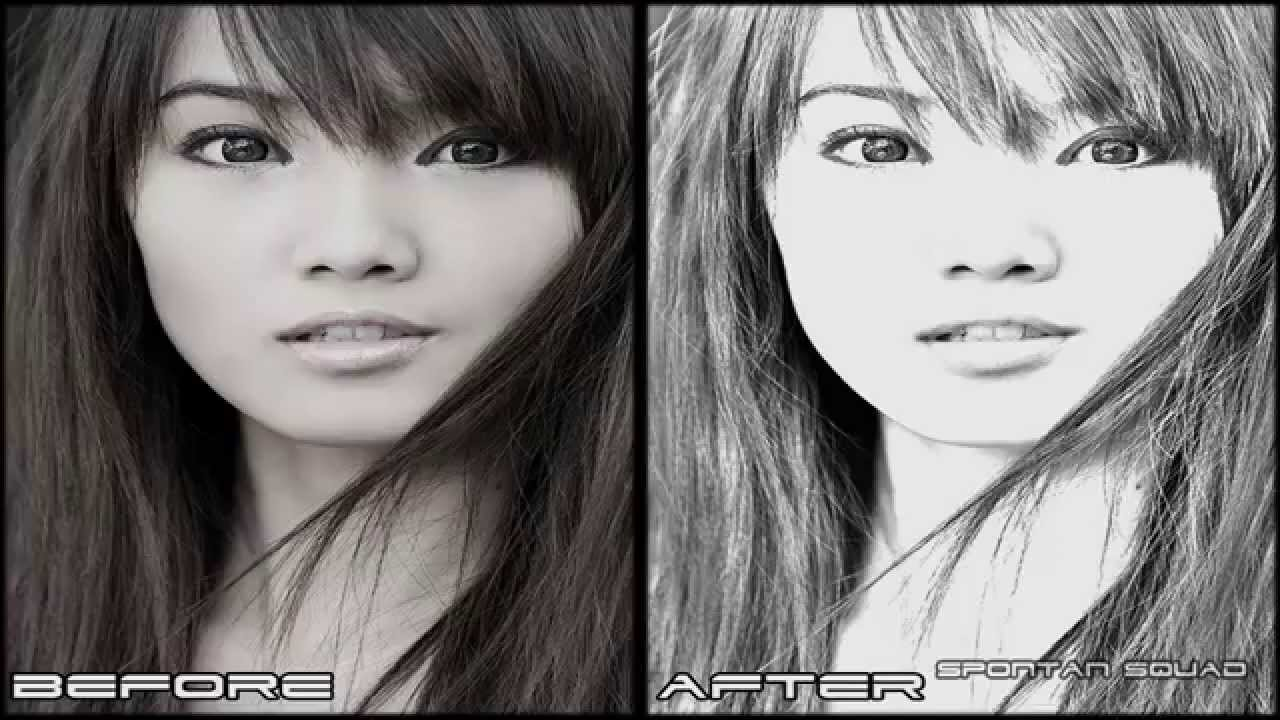 Convert photo to pencil sketch free software