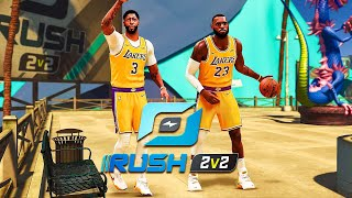 LEBRON JAMES and ANTHONY DAVIS RETURN to DOMINATE the 2V2 RUSH EVENT on NBA 2K21