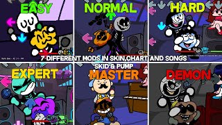 7 Different Mods In Skin,Chart and Songs | South - Friday Night Funkin Mod Showcase (Difficulty)