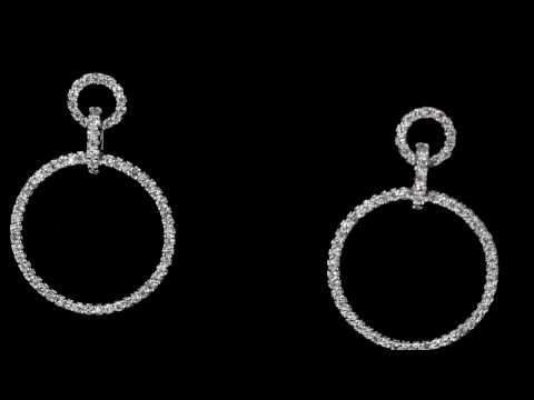 Browns Family Jewellers Circle Drop Earrings