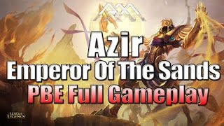 Azir Gameplay – League of Legends – Full Game Commentary