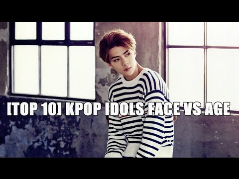 [TOP 10] Kpop Idols Face vs Age