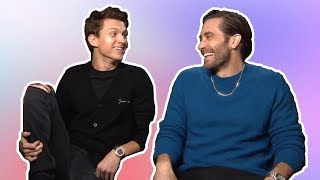 tom holland & jake gyllenhaal having the best (b)romance for 7 min straight