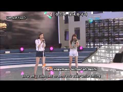Davichi - Time Please Stop LIVE [eng sub+kara]