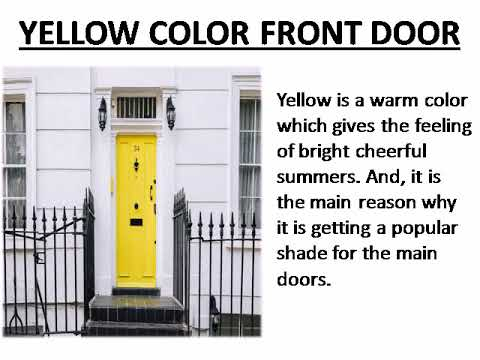 4 Dynamic Door Colors To Welcome You Home