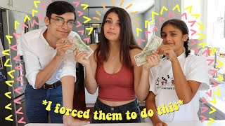 giving my siblings money to throw me a ~surprise~ birthday party