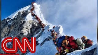 Mount Everest climbers stranded in 'death zone'