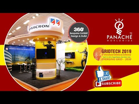 Exhibition Stand Design & Build for Omicron at GridTech 2019 - Panache Exhibitions