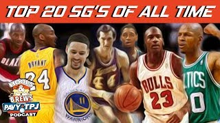 Top 20 NBA SG's of All Time | #HoopsNBrews