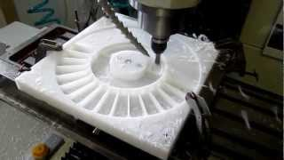 Milling HDPE on a Tormach PCNC 1100.