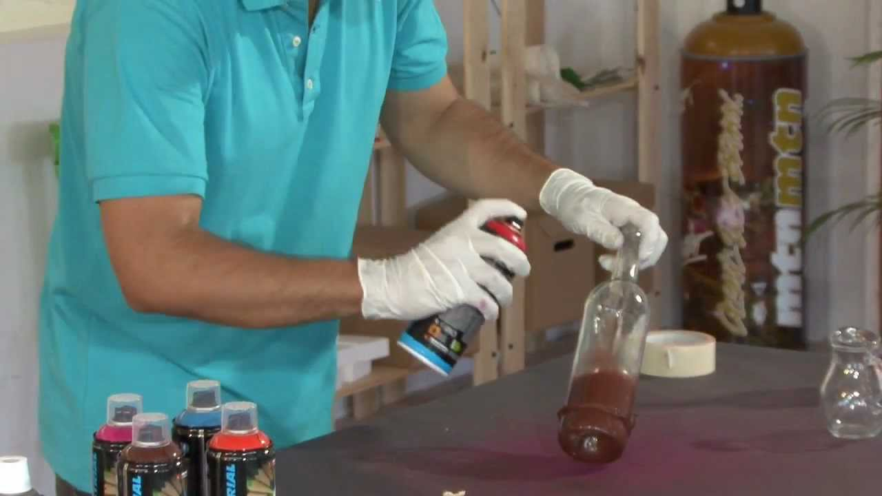 transformer des bouteilles de verre en vases youtube. Black Bedroom Furniture Sets. Home Design Ideas