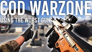 Using the worst gun in Call of Duty Warzone