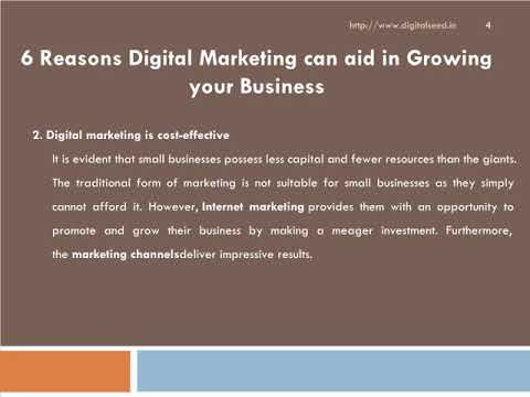 6 Reasons Digital Marketing can aid in Growing your Business – Digitalseed , India