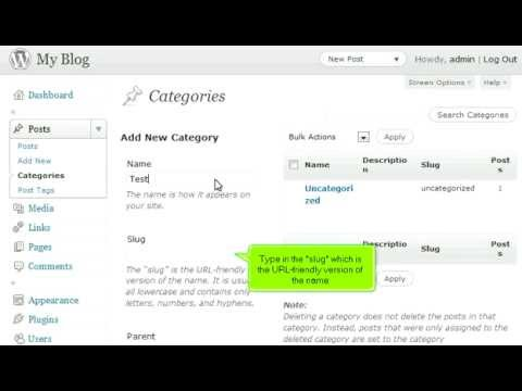 How to manage categories in WordPress