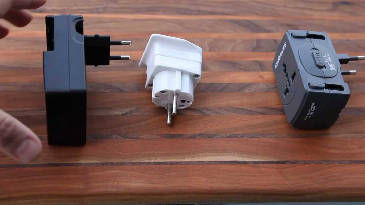 european electrical adapters converters youtube. Black Bedroom Furniture Sets. Home Design Ideas
