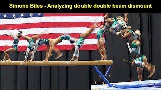 Simone Biles - Analyzing double double beam dismount