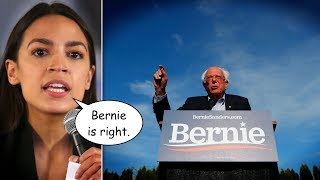 Ocasio-Cortez Defends Bernie Sanders' Stance on Universal Voting Rights