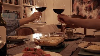 Romantic dinner with my husband at home