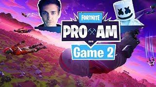Ninja and Marshmello Fortnite Pro Am 2018 Game 2 E3 Fortnite Tournament Live at E3 Highlights