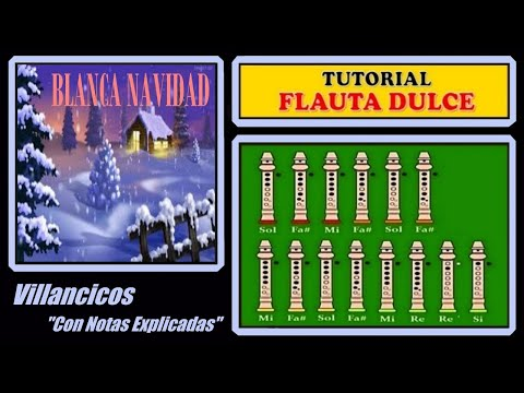 Blanca Navidad en Flauta