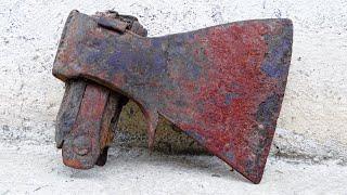 Restoration Antique Rusty Axe