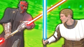 BECOMING DARTH MAUL IN VIRTUAL REALITY - Blades and Sorcery VR Mods (Star Wars)