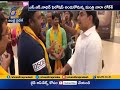 Nara Lokesh receives grand welcome at Singapore
