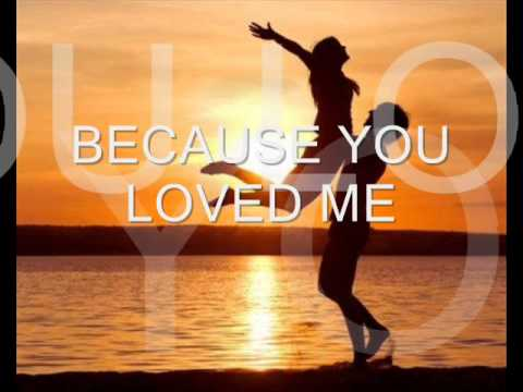 Baixar Because you loved me Celine Dion (with lyrics)