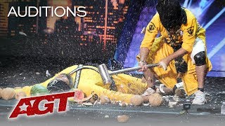This Danger Act From India Will SCARE You With A SMASH! - America's Got Talent 2019