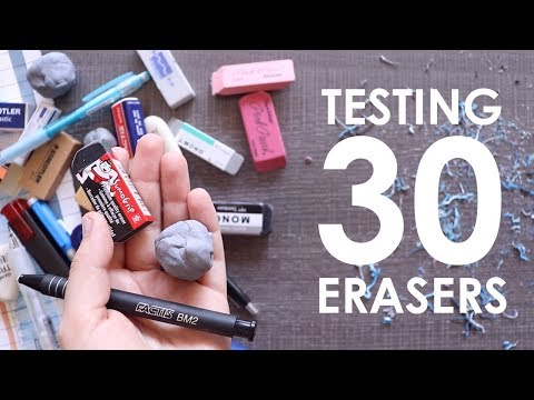 Trying 30 Artist Erasers - WHICH IS THE BEST?!
