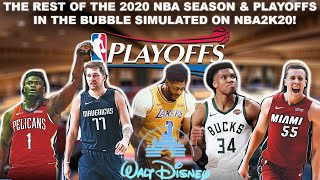 SIMULATING The 2020 NBA Season & PLAYOFFS In the Bubble on NBA2K20!
