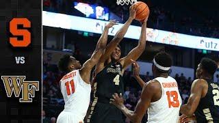 Syracuse vs. Wake Forest Basketball Highlights (2017-18)