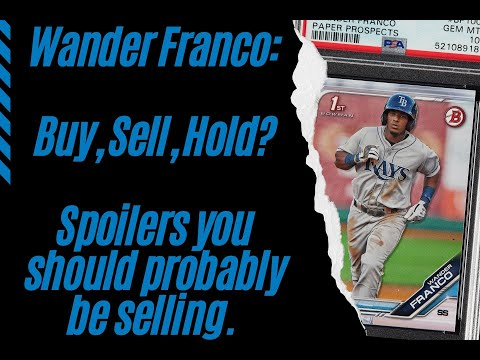 Wander Franco: Buy, Sell, Hold? Spoilers you should probably be selling his Sports Cards.